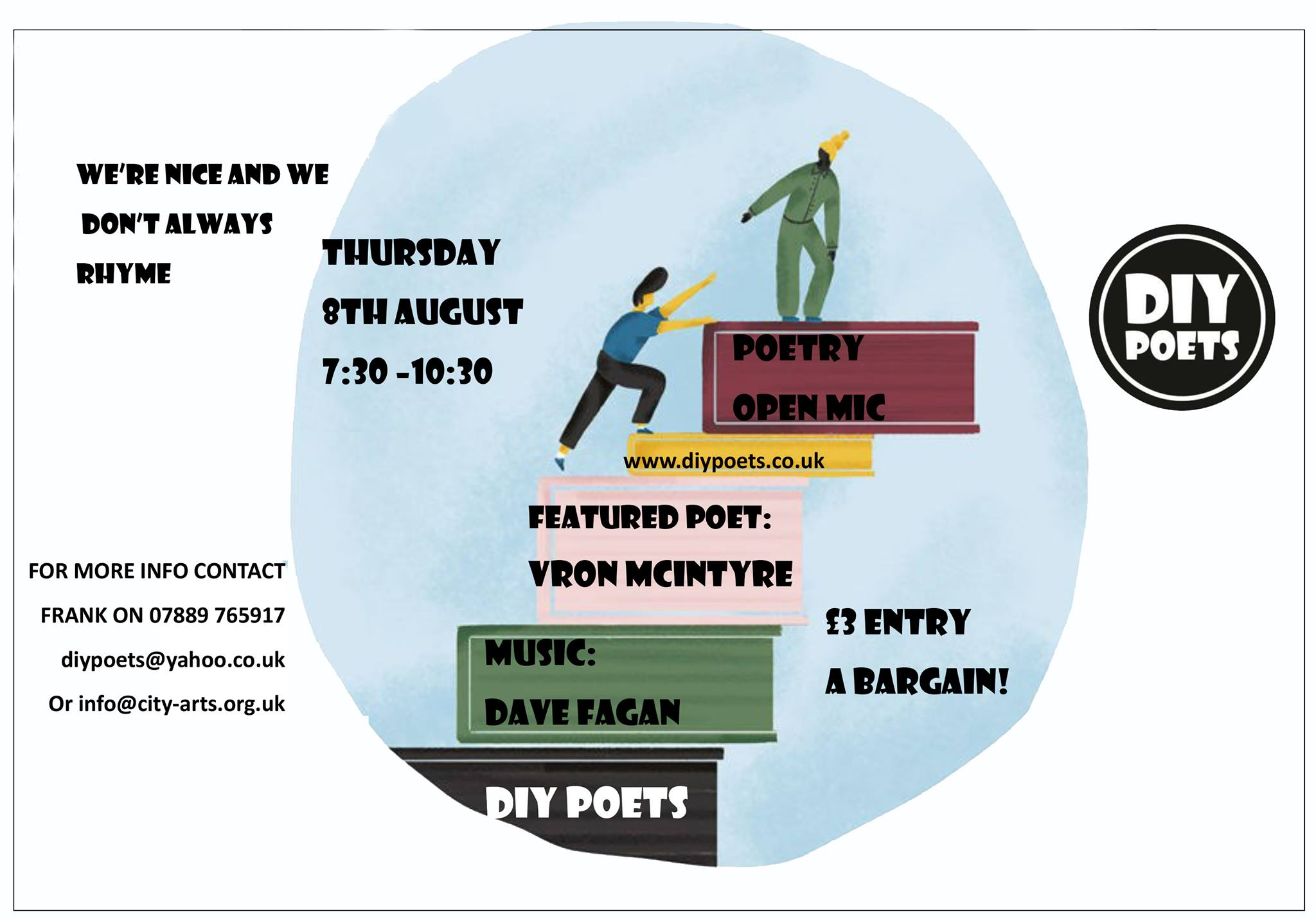 DIY Poets at City Arts August 2019